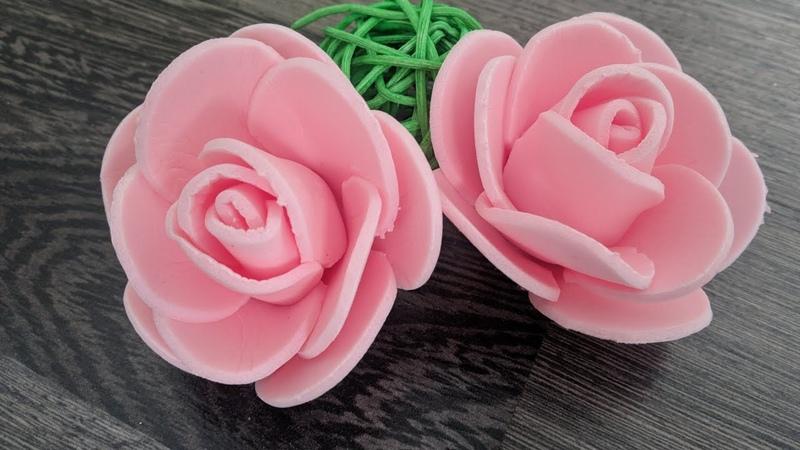 Мини розочки из изолона MC DIY mini roses made of isolon
