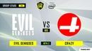 Evil Geniuses vs CR4ZY игра 2 BO3 ESL One Los Angeles Online