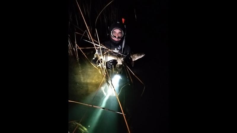 Подводная охота на трофей на Волге мобильная баня МОБИБА