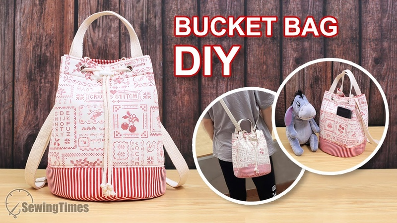 DIY PRETTY SHOULDER BAG How to Make a Bucket Bag Eeay Tutorial sewingtimes