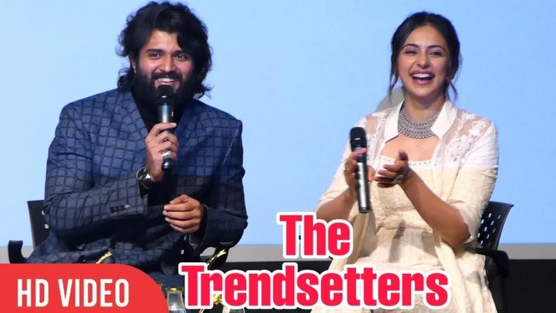 Vijay Deverakonda Rakul Preet Singh TRENDSETTERS Conversation at IFFI Goa 2019