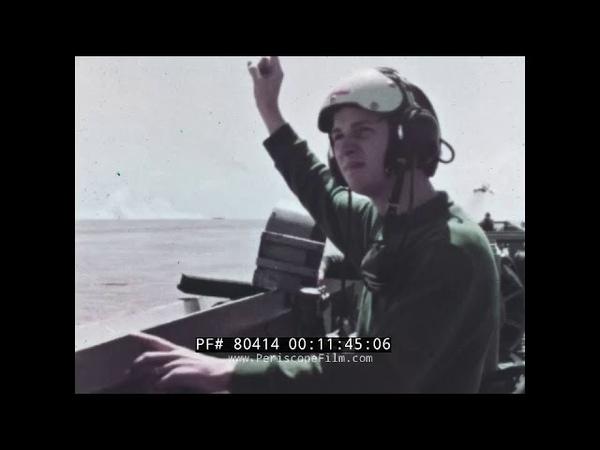 FLIGHT DECK SAFETY - 1967 USS FORRESTAL VIETNAM ERA 80414