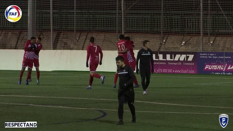RESUM: Copa Constitució Protecvall, Vuitens. FC Ordino - Nova C. Penya Encarnada (1-2)