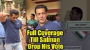 Salman Khan Cast His Vote For Assembly Election 2019   Full Coverage Till Salman Drop His Vote
