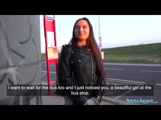 Monica brown снимают зай деньги на автобусной остановке и трахают в подземной переходе - порно секс porn пикап