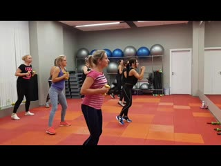 Aerobic dance (tae-bo)