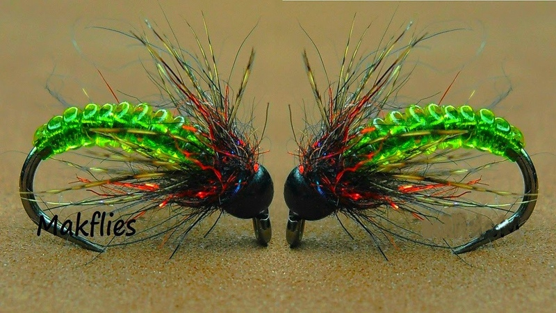 Fly Tying a Transparent Caddis Larva by Mak