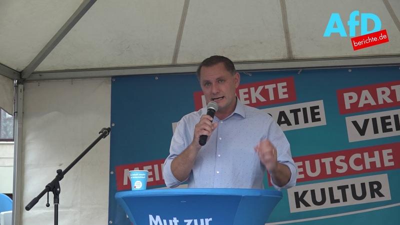 Tino Chrupalla MdB AfD spricht in Görlitz