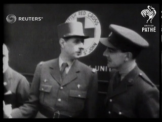General De Gaulle Receives Mobile X-ray Unit Presented by the British Red Cross for Servic...(1942)