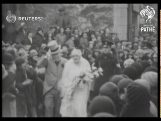 POLITICS: Megan Lloyd George is bridesmaid at Holyhead wedding (1929)