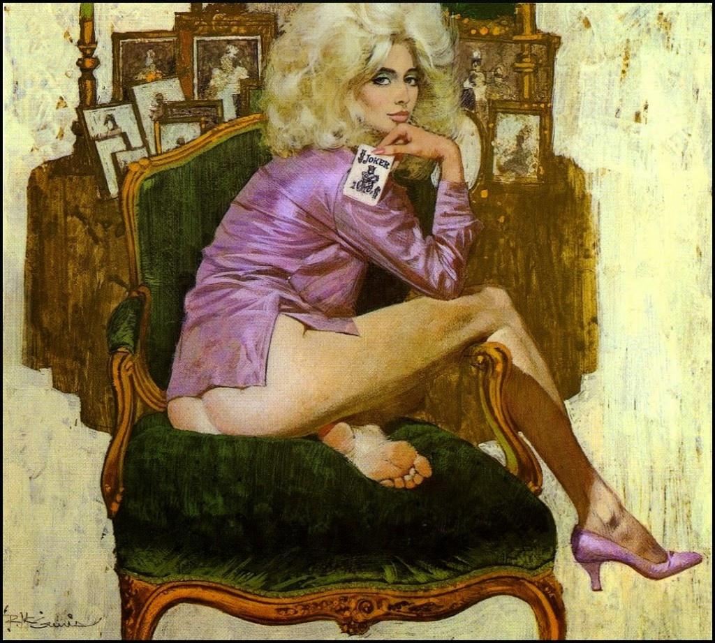 Девушки 60-70х в иллюстрациях Роберта Макгинниса.