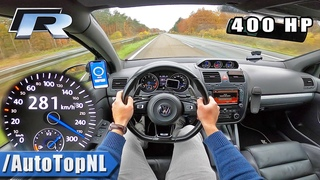 400HP VW GOLF 5 R20 TOP SPEED on AUTOBAHN NO SPEED LIMIT by AutoTopNL