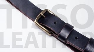 Ремень из кожи растительного дубления. Тестируем химию от IEXI. Красим кожу. Handmade leather belt