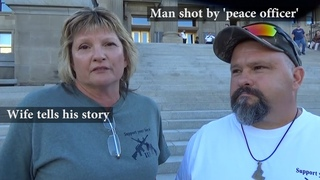 EXCLUSIVE: Sandy Anderson updates us on her husband being shot multiple times by 'peace officer'