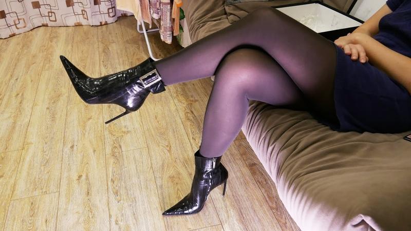 Pointed toe high heels Gianmarco Lorenzi eel skin ankle boots Size EU 39 US 8 5
