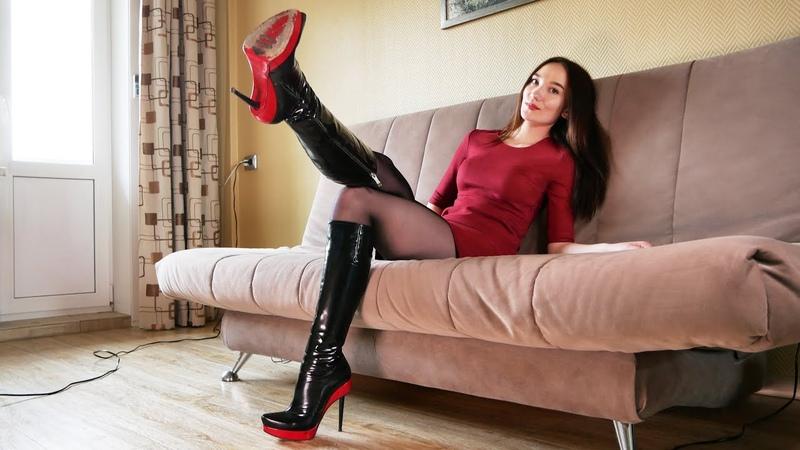 Christina's patent leather Gianmarco Lorenzi boots Size 37 Кристина Кожина June 14 2018