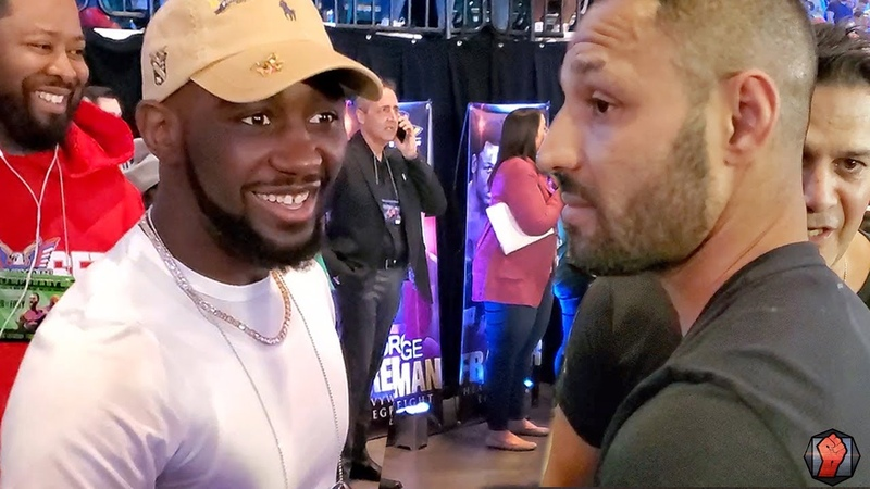 TERENCE CRAWFORD RUNS UP ON KELL BROOK! BOTH SPEAK ON FUTURE FIGHT YOU LOOKING FOR A DANCE PARTNER