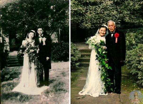 То, над чем не властно время,  влюбленные пары и просто друзья воссоздают фотографии больше чем 20-летней давности