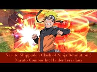 Naruto Shippuden Clash of Ninja Revolution 3 Naruto Combos Por: Haider Terrafaux