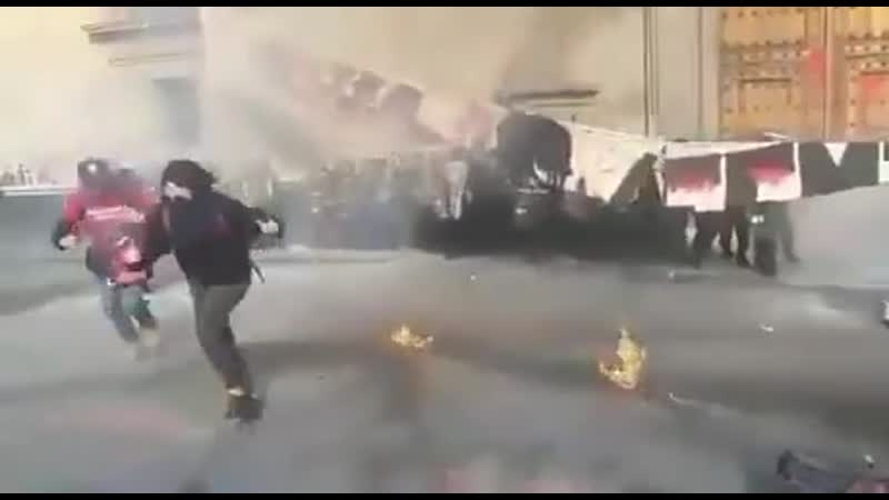 Angry Feminists Mexico City Used Molotov Cocktail they hurt themselves in their confusion It wasnt me Hahaha stupid