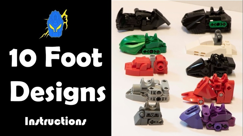 How To: 10 Bionicle Foot Designs Instructions