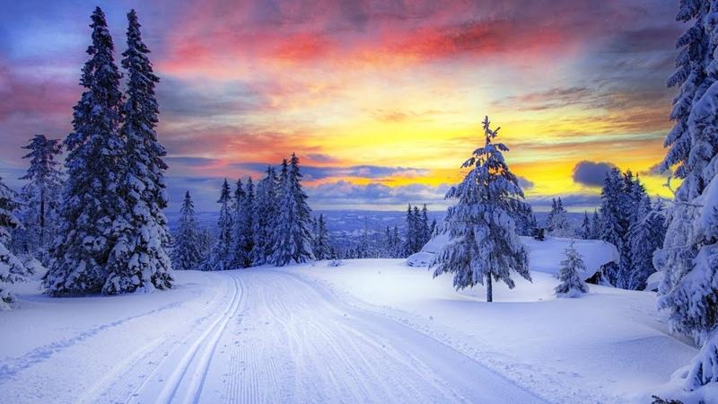 ✔ Зима снег Красивое видео для медитации и релаксации Музыка для души Гармония и отдых