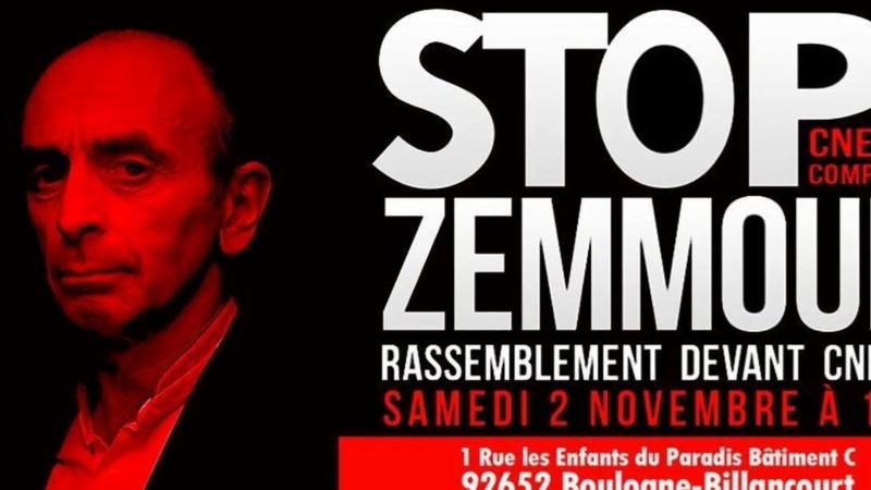 Rassemblement National Stop CNEWS ZEMMOUR LE 02 NOVEMBRE 2019 STOP l'apologie du Terrorisme