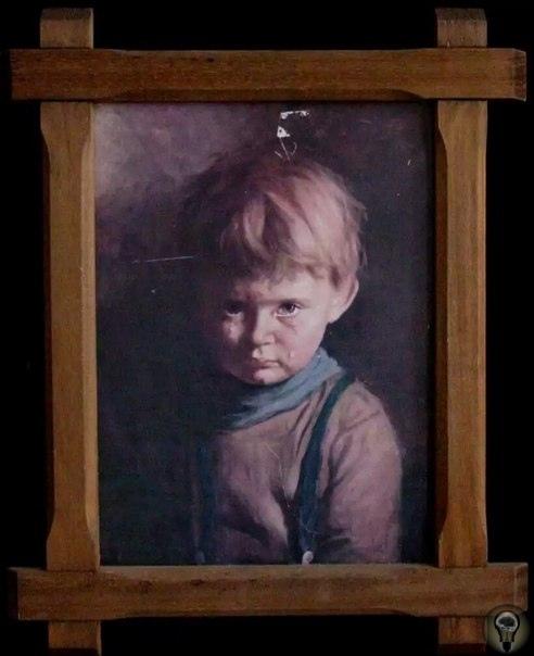 """Одной из самых известных проклятых полотен является """"Плачущий мальчик""""  репродукция картины испанского художника Джованни Браголина"""