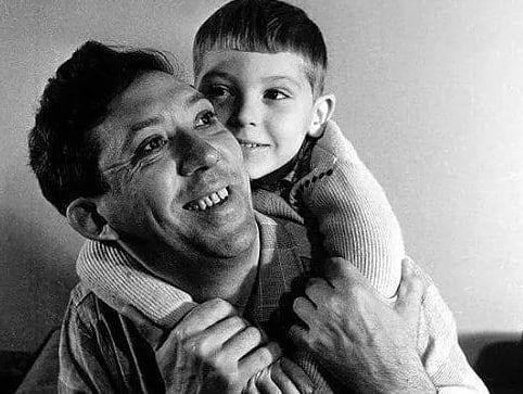 Весьма редкое фото. Юрий Никулин с сыном.