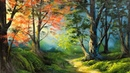 Free Lesson How To Paint A Vibrant Sunlit Forest Paintings By Justin