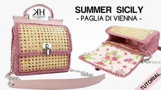 TUTORIAL BORSA UNCINETTO - SUMMER SICILY CROCHET BAG - Paglia di Vienna ♡ Katy Handmade