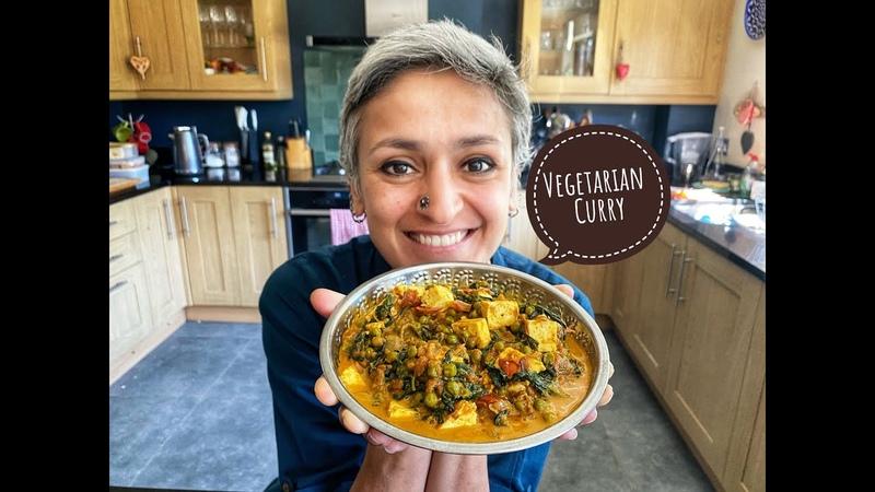 Vegetarian Curry Best Methi Matar Malai Fenugreek peas paneer curry withme cookwithme