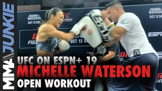 Michelle Waterson works out for fans ahead of UFC Tampa