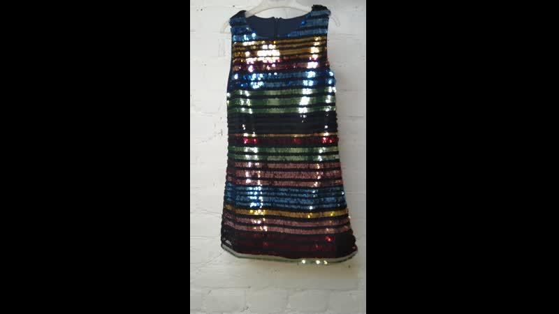 платье паетки с сумочкой.