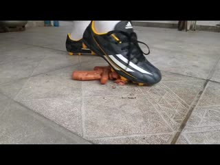 Crushing sausages with adidas cleats