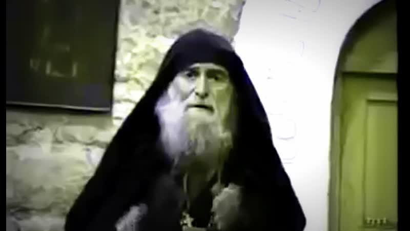 Видеролик Преподобный Гавриил Ургебадзе в храме 1994 год
