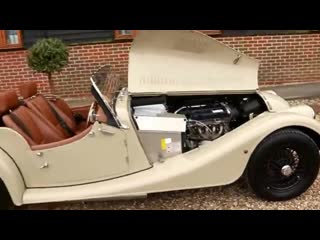 Morgan 4_4 1.6 ford engine finished in sport sand with moto lita steering wheel