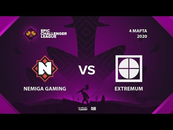 Nemiga Gaming vs EXTREMUM Epic League Challenger bo3 game 1 Eiritel Lost