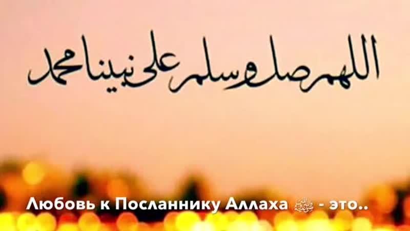 Надир абу Халид - Любовь к Посланнику Аллаха ﷺ