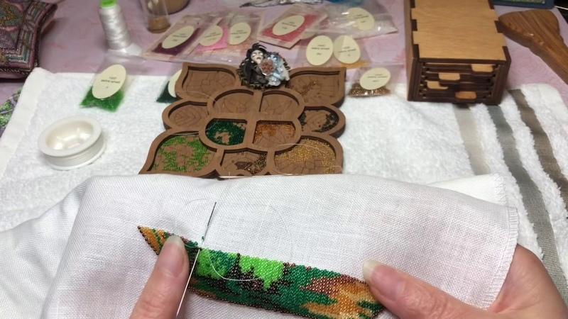 Вышиваю бисером! Французский дизайн. Reflets de Soie.
