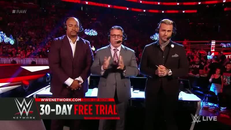 Seth Rollins vs Drew McIntyre WWE Raw 7/1/18