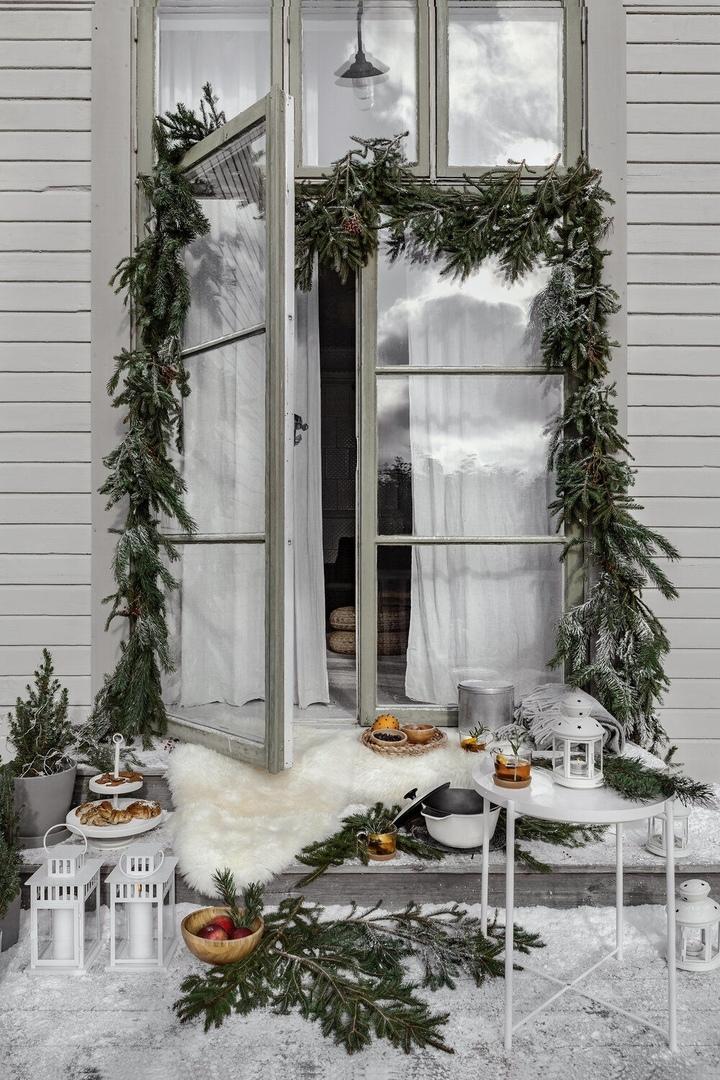 Идеи для новогоднего оформления загородной дачи от IKEA || 01