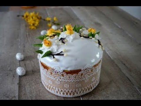 Как украсить кулич паску Рецепт идеальной глaзури на желатине Easter bread Glaze