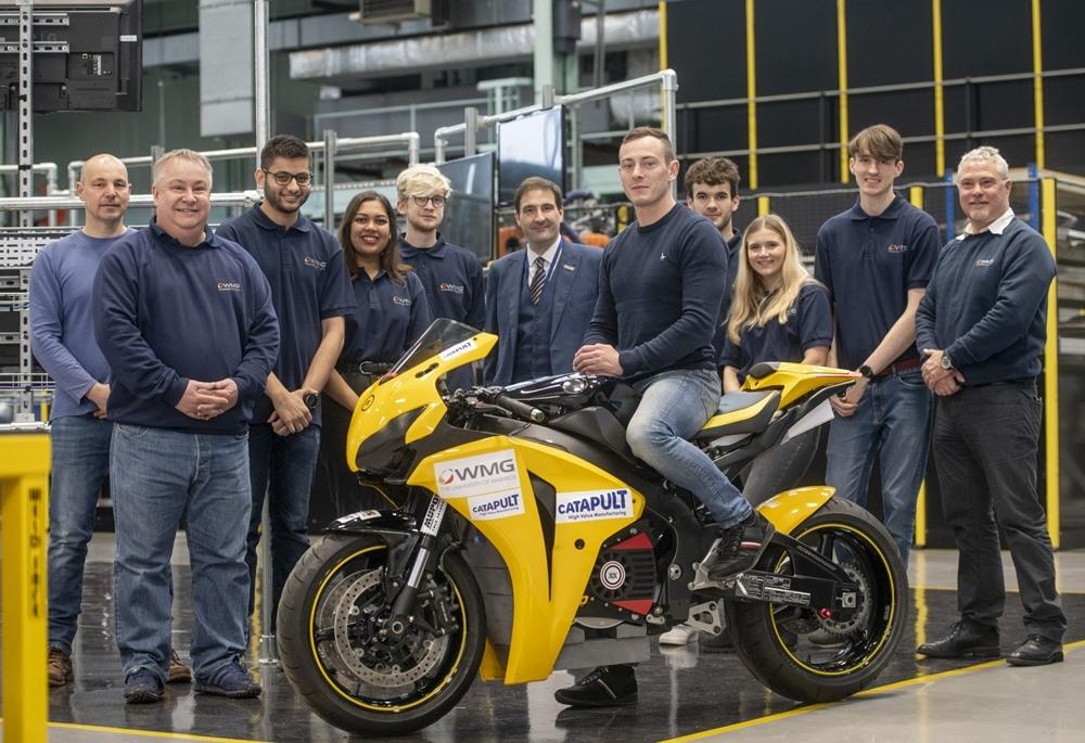 Уорикский Университет разрабатывает электроцикл на базе Honda Fireblade