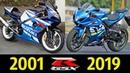 Suzuki GSX-R 1000 - Эволюция (2001 - 2019) ! История модели !