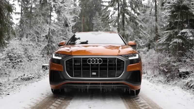 Can the 2019 AUDI Q8 50TDI handle the SNOW AND ICE Dragon orange beast in deta