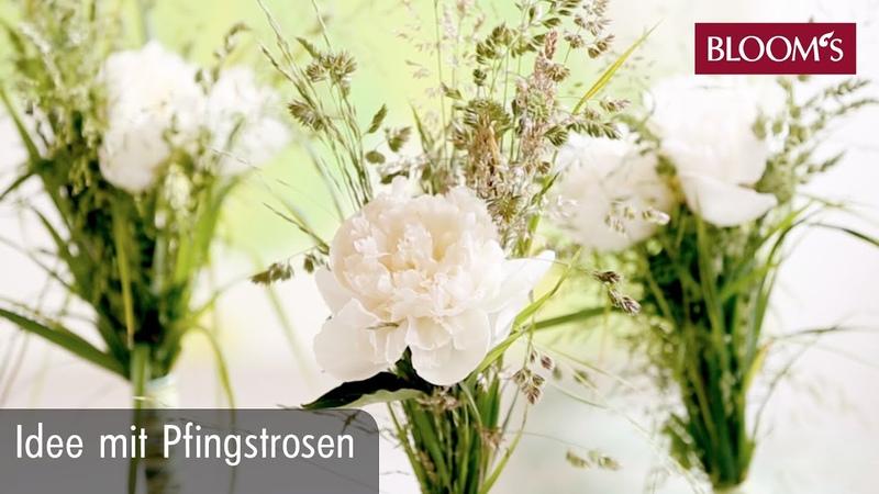 Idee mit Pfingstrosen DIY Sommerdeko summer decoration BLOOM's Floristik