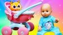 Распаковка коляски для беби бон Аннабель. Видео на английском языке.
