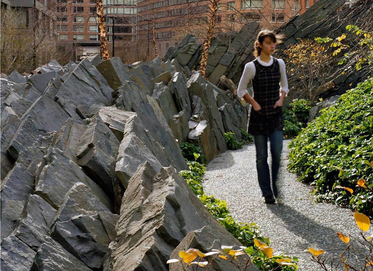 Teardrop Park by Michael Van Valkenburg Landscape Architects