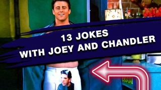 """LEARN ENGLISH WITH """"FRIENDS""""   13 Jokes with Joey and Chandler (Play on Words)"""